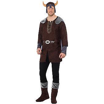 Traje de disfraz de vikingo hombre hombre carnaval vikingo bárbaros