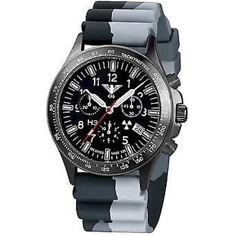 KHS watches mens watch black platoon titanium chronograph KHS. BPTC. DC1