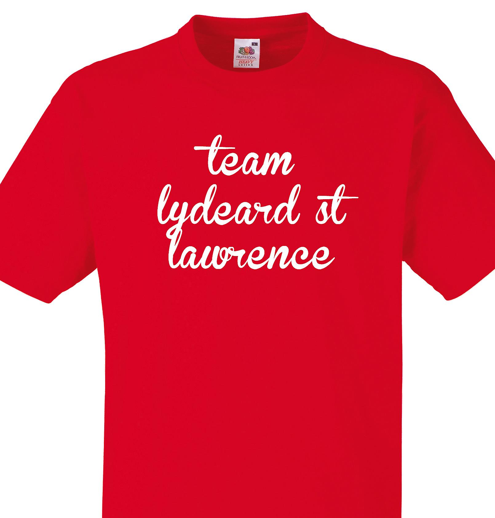Team Lydeard st lawrence Red T shirt