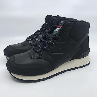 New Balance HL755 Herren Hohe Sneaker Stiefel Turn-Schuhe Schwarz Leder NEU OVP