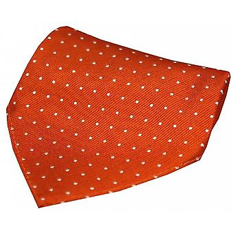 David Van Hagen Pin Dot Silk Handkerchief - Orange/White