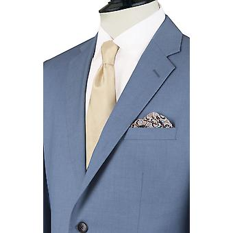 Dobell Mens Light Blue Suit Jacket Regular Fit Notch Lapel