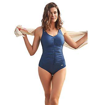 Susa 4193-170 Women's Basic Blue Costume One Piece Swimsuit