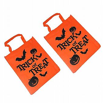 Halloween Horrors Goodies Large Kids Sweets Trick Or Treat Tote Bags Pack of 12 (WS309868)