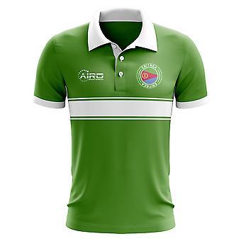 Эритрея концепция полоса рубашка поло (зеленый)