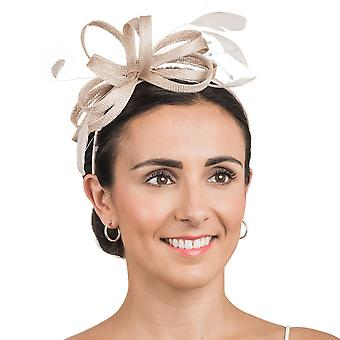 Hawkins Collection Womens/Ladies Bow And Beaded String Detail Fascinator