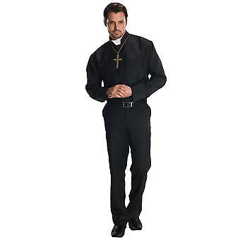 Præst præst Fader religiøse prædikant kirke mænd kostume Shirt & halskæde