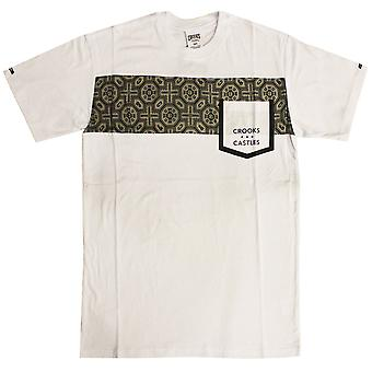 Crooks & Castles Temple Pocket T-Shirt White