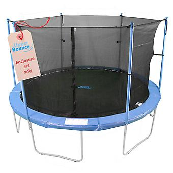 Upper Bounce 6 Pole Trampoline Enclosure Set to fit 8 FT. Trampoline Frames with set of 3 or 6 W-Shaped Legs (Trampoline Not Included)
