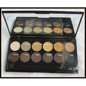 12 Colours Eyeshadow Palette With Mirror   Natural Tones