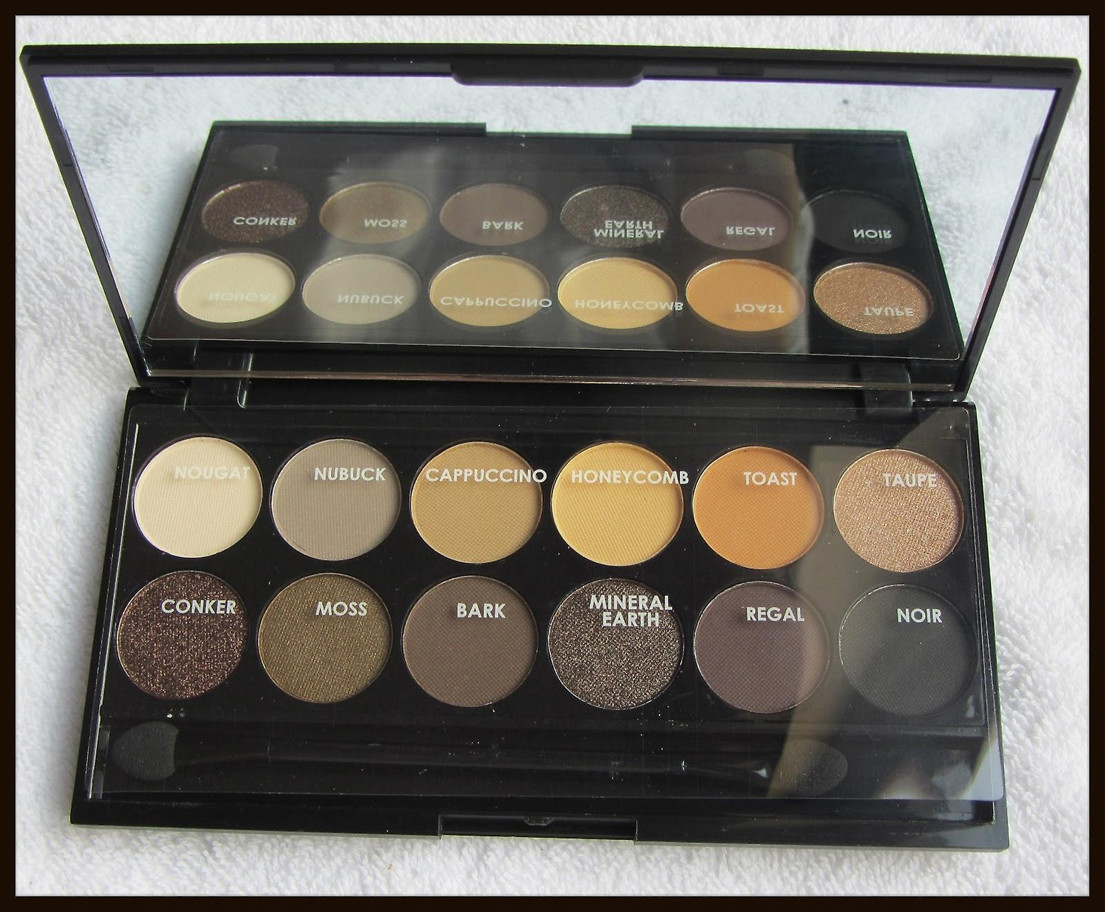 12 Colours Eyeshadow Palette With Mirror | Natural Tones