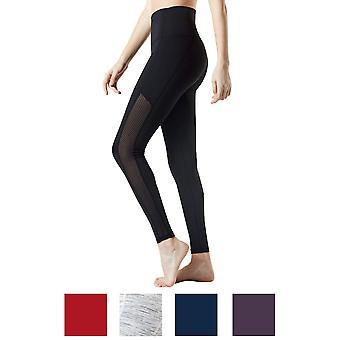 TSLA Tesla FYP56 kvinders High-indsnævrede ultra-stretch Tummy kontrol yoga bukser