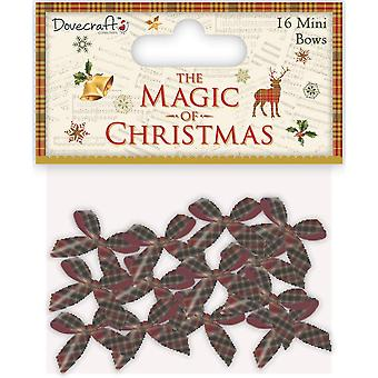 Dovecraft Christmas Collection - The Magic of Christmas Mini Tartan Bows
