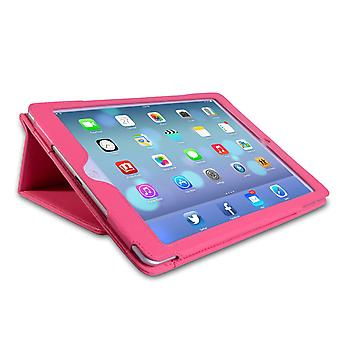 Caseflex iPad Air Textured Faux Leather Stand Case Hot Pink