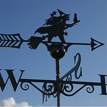 Poppy Forge Witch and Cat Weathervane