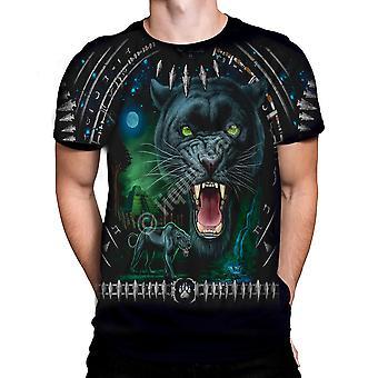 Liquid blue - tribal panther - t-shirt