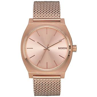 Nixon mini time teller Japanese Quartz Analog Woman Watch with A1187897 Gold-Plated Stainless Steel Bracelet