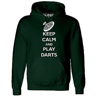 Men's keep calm and play darts hoodie