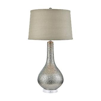 Silver dimples table lamp - tall stein world
