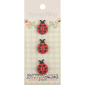 Spring Buttons Ladybugs Sf 131