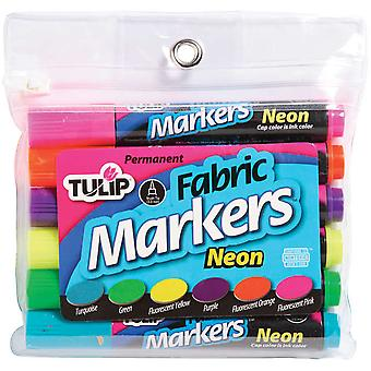 Tulip Fabric Markers Large 6 Pkg Neon Tfm6 26255