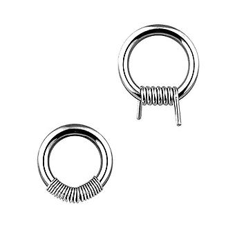 Urban Male Pair Of Surgical Stainless Steel Spring Ball Closure Rings 1.6mm Gauge