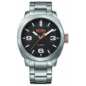 Hugo Boss Orange Mens Cape Town Stainless Steel Bracelet Black Dial 1513454 Watch