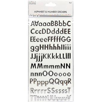 Simply Creative Alphabet & Number Stickers-Classic Foil Silver SCSTK018