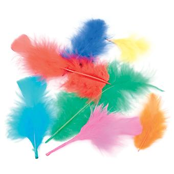 Flat Turkey Feathers 7g-Assorted Colors MD38061