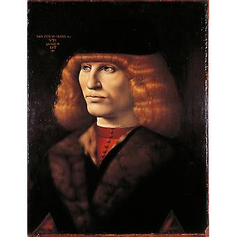 Portrait Of A Young Man Poster Print