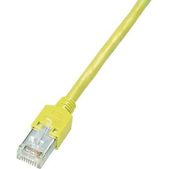 RJ49 Networks Cable CAT 5e S/UTP 0.5 m Yellow Flame-retardant, incl. detent Dätwyler
