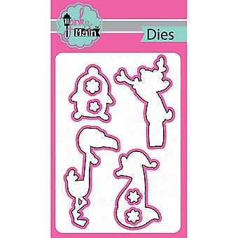 Pink And Main Dies-Oh Deer, 8/Pkg PNM054