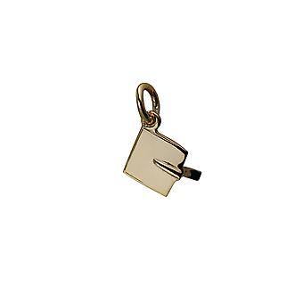 9ct Gold 9x9mm Graduation Cap Pendant or Charm
