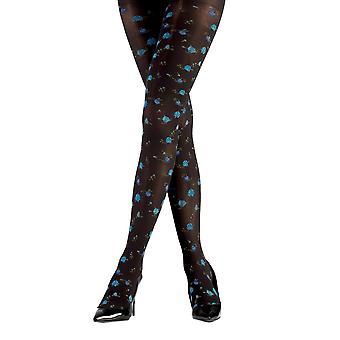 Guella - ladies pantyhose with delicate colourful rose motifs of tights 50 DEN