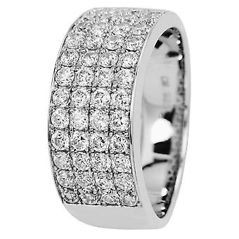Carlo Monti women's ring JCM2002-111, 925 sterling silver rhodanized, white zirconia