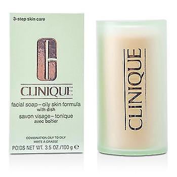 Clinique Facial Soap - Oily Skin Formula (With Dish) - 100g/3.5oz