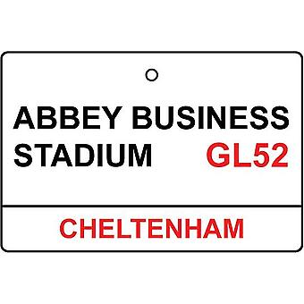 Cheltenham / Abbey Business Stadium Street Sign Car Air Freshener