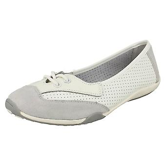 Ladies Down To Earth Flat Comfort Ballerinas F80220