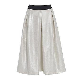 Long Flared Ivory skater Skirt SK200-14