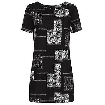 NL Patchwork Short Sleeve Tunic Dress