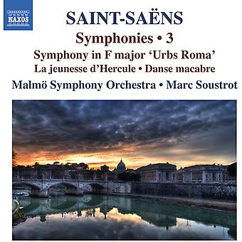 Saint-Saens / Malmo Symphony Orchestra / Soustrot - Symphonies 3 [CD] USA import