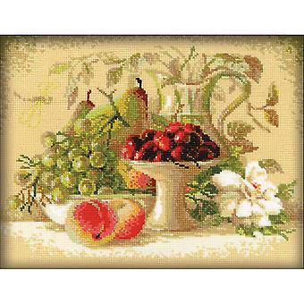 Still Life With Sweet Cherries Counted Cross Stitch Kit-12