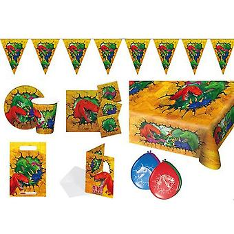 Dino party package dinosaur 48 pieces kids birthday kids party
