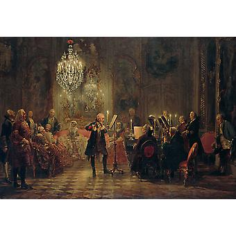 Carl Frederic Aagaard - menigte Poster Print Giclee