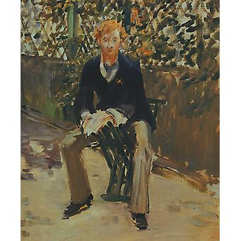 Edouard Manet - George Moore in the Artist's Garden Poster Print Giclee