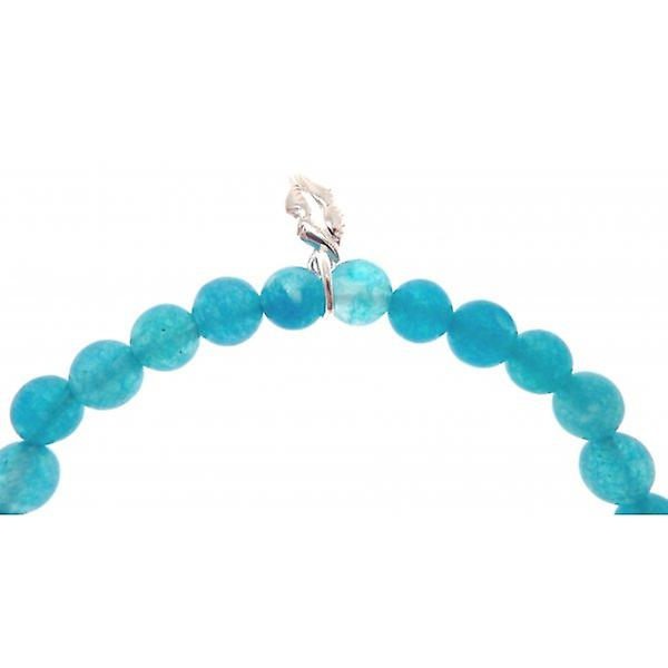 W.A.T 925 Sterling Silver 'Quitters Never Win, Winners Never Quit' Turquoise Quote Bracelet
