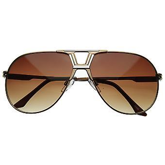 Optical Quality Avant-Garde Design Metal Aviator Sunglasses