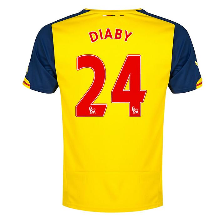 2014-15 Arsenal Away Shirt (Diaby 24)