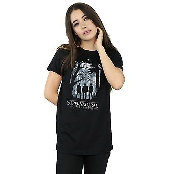 Supernatural Women's Group Outline Boyfriend Fit T-Shirt