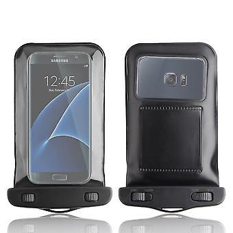 إينفينتكاسي للماء الغبار حقيبة واقية القضية تغطية سامسونج Galaxy S7/حافة S7-أسود